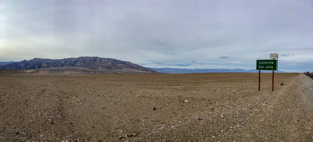 One day in Death Valley | Sea level at Death Valley National Park