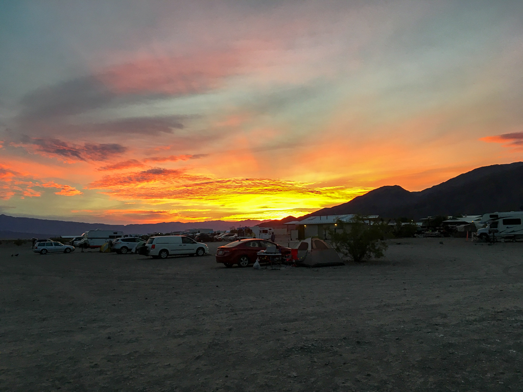 Sunset at Stovepipe Wells Campground | Death Valley National Park