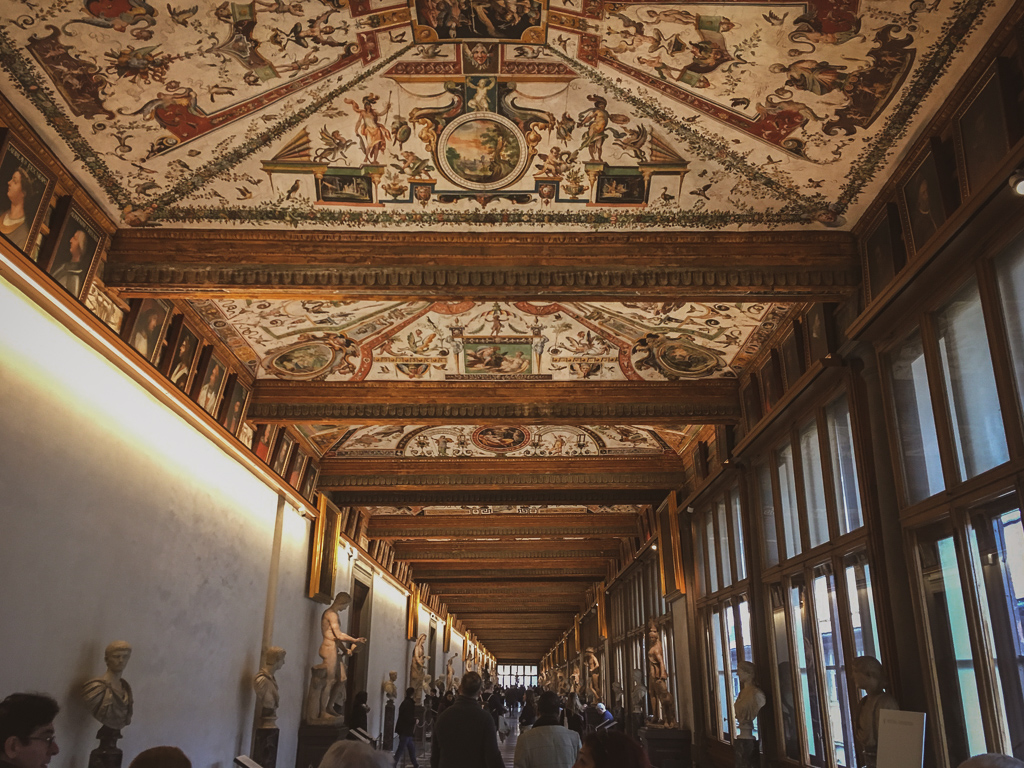 The Halls of the Uffizi Gallery, Florence | 10 Day Italy Itinerary