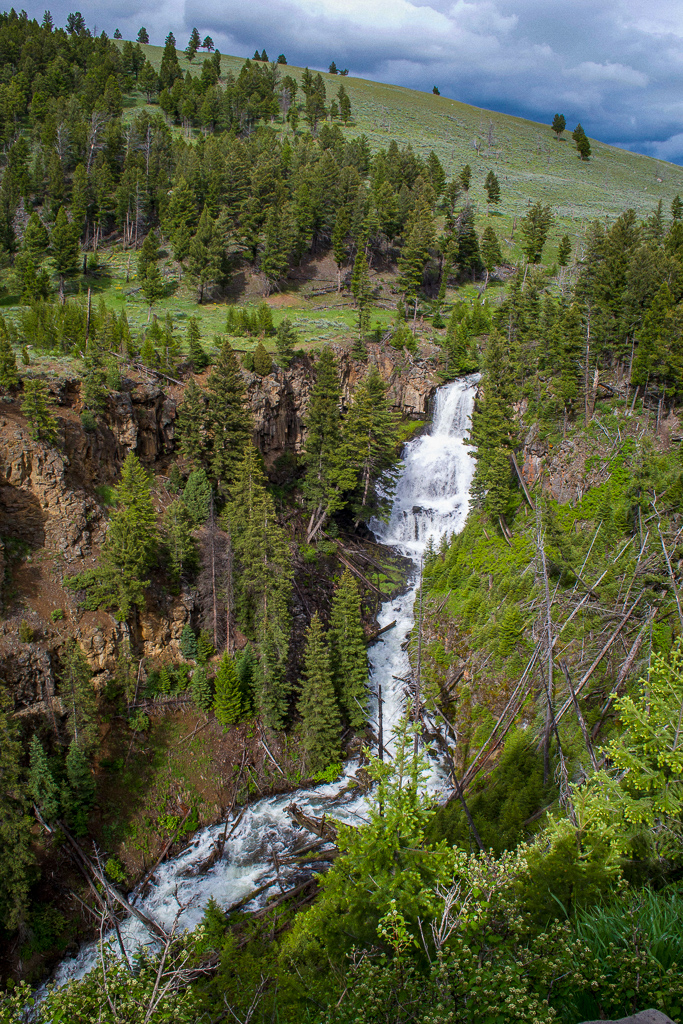 Undine Falls waterfall, Yellowstone National Park