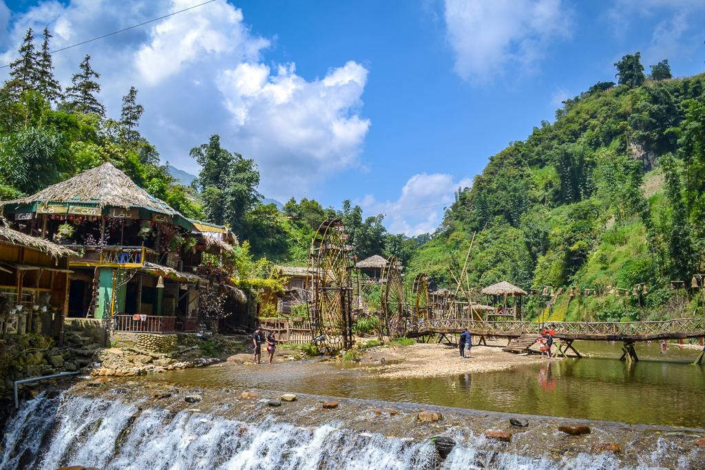 Cat Cat Village waterfall