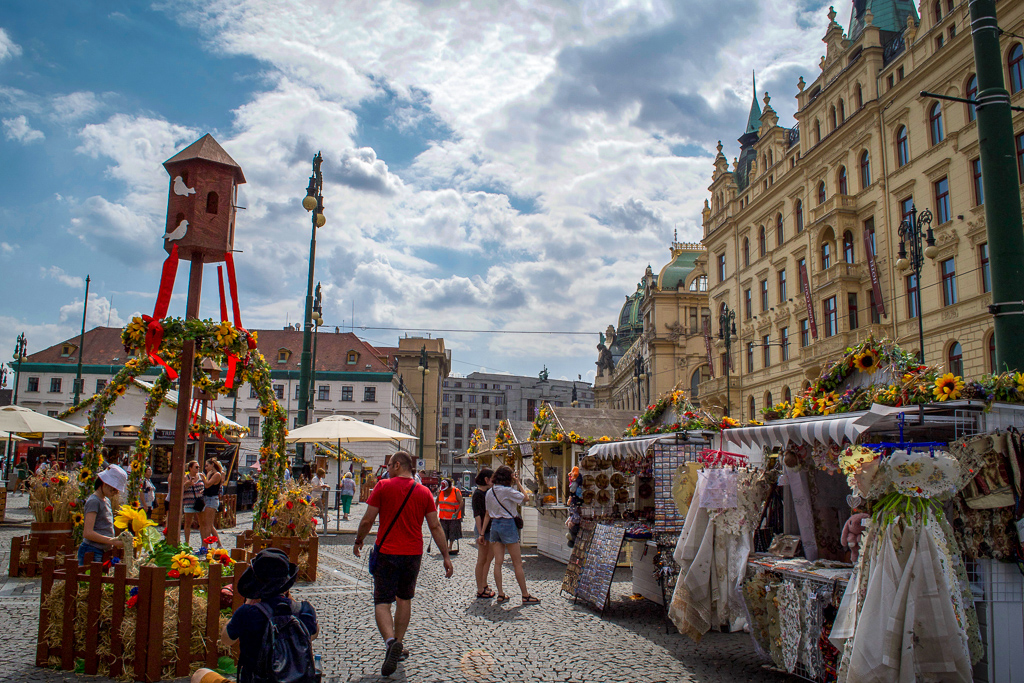 Flower Market in Prague's Republic Square
