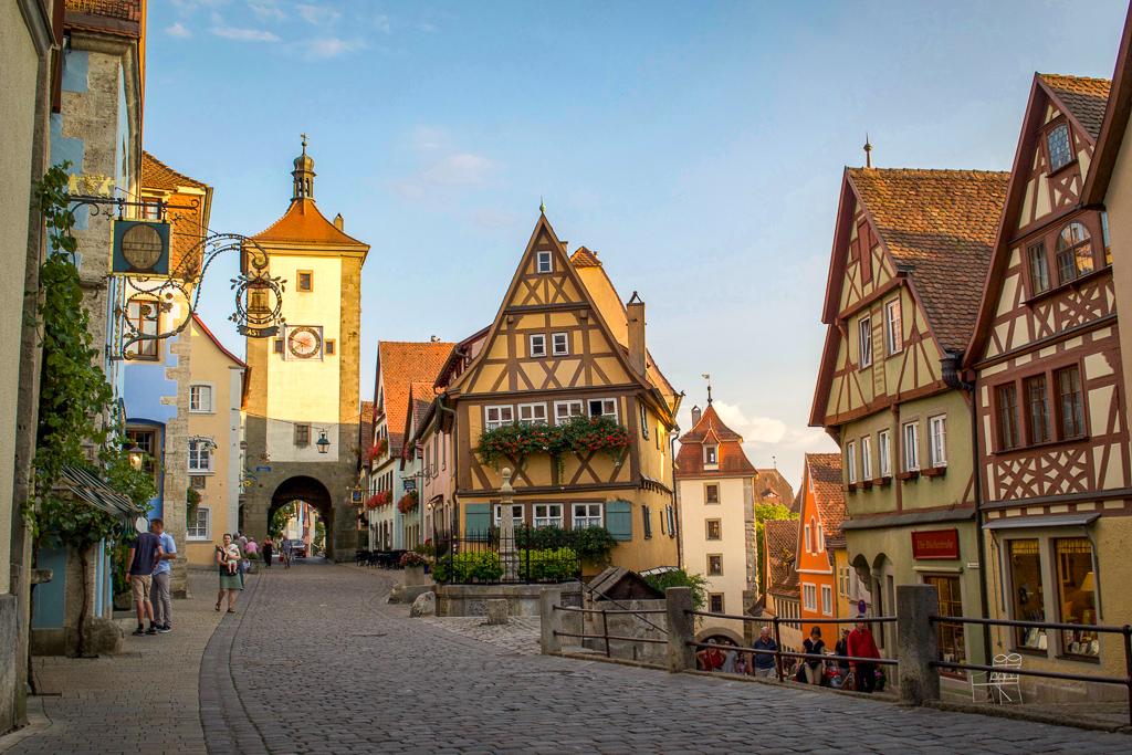 Plonein Square in Rothenburg ob der Tauber