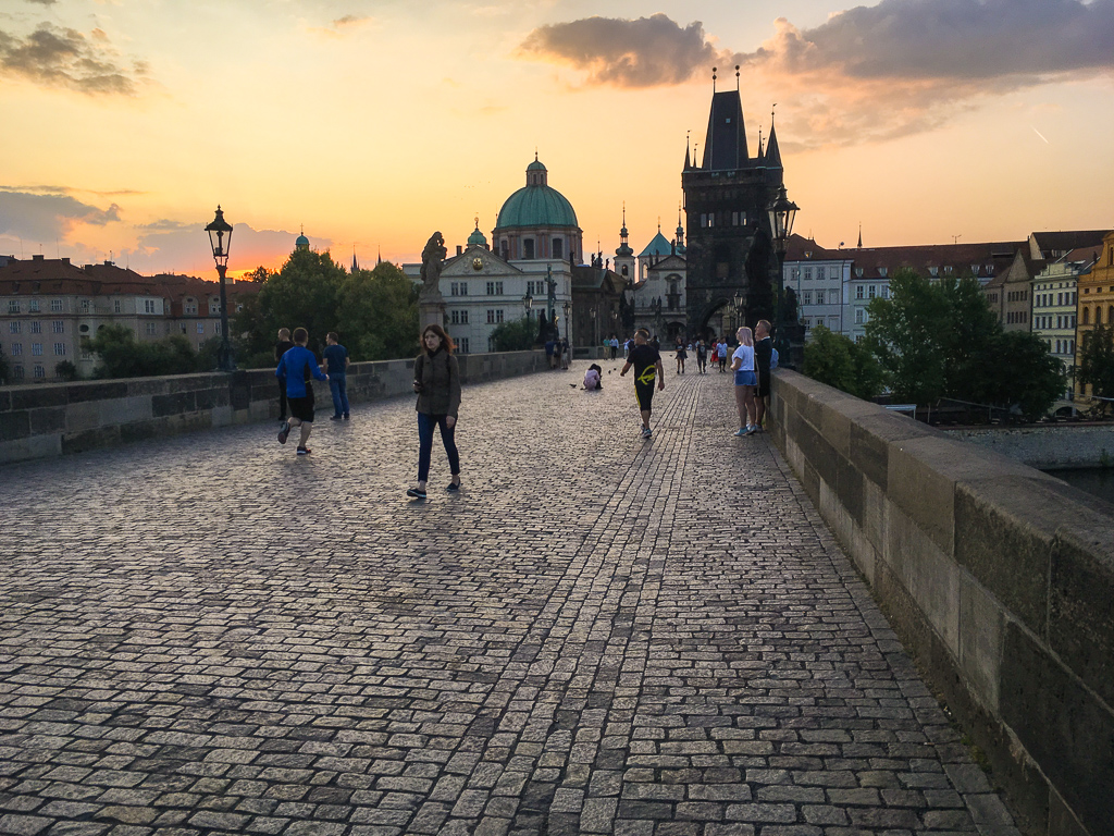 Sunrise on the Charles Bridge