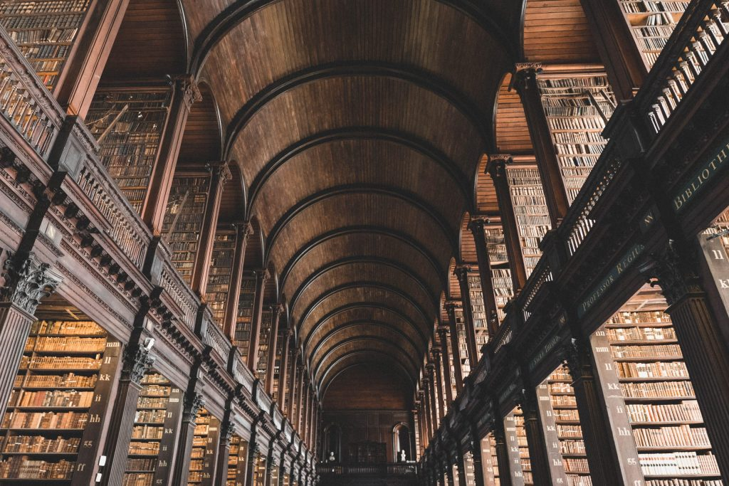 Trinity College Library, Dublin, ireland, home to the Book of Kells
