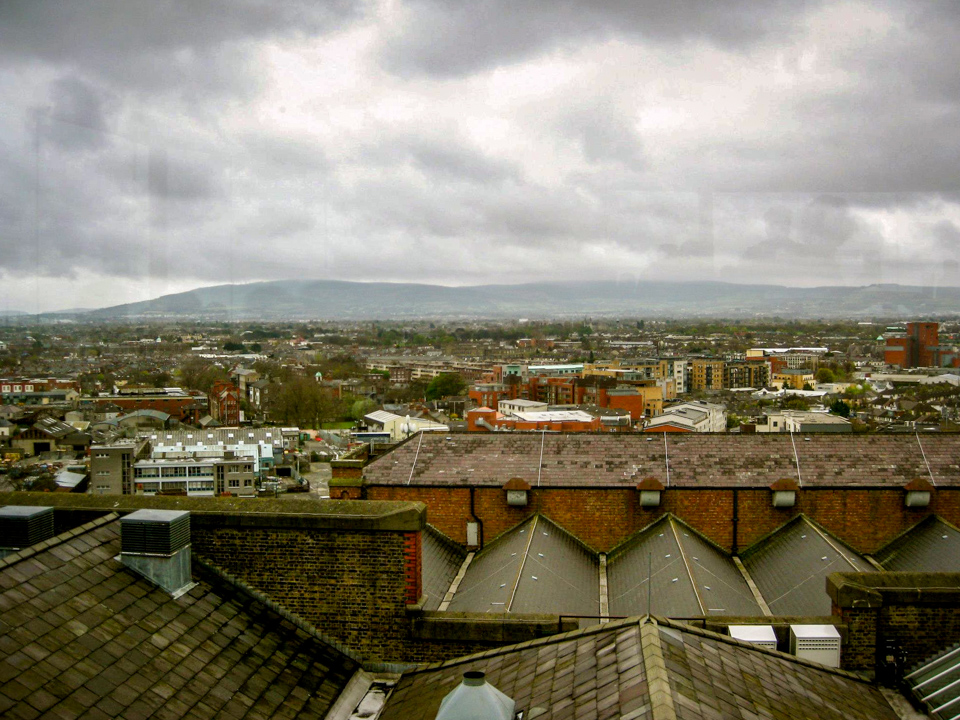 View of Dublin from the top floor of the Guinness storehouse
