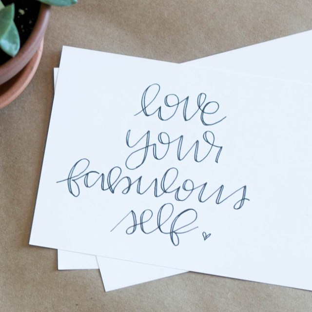 A No-Brainer way to add a touch of fabulousness to your office space or bedroom or really any area of your life is to add your favorite quote in a print.  In a beautiful font. With fun black or gold lettering.