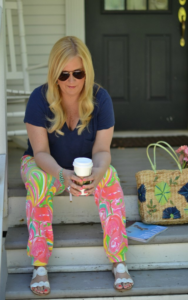 On Wednesday I Wore... Lilly Pulitzer!  These jogger pants are a necessity!