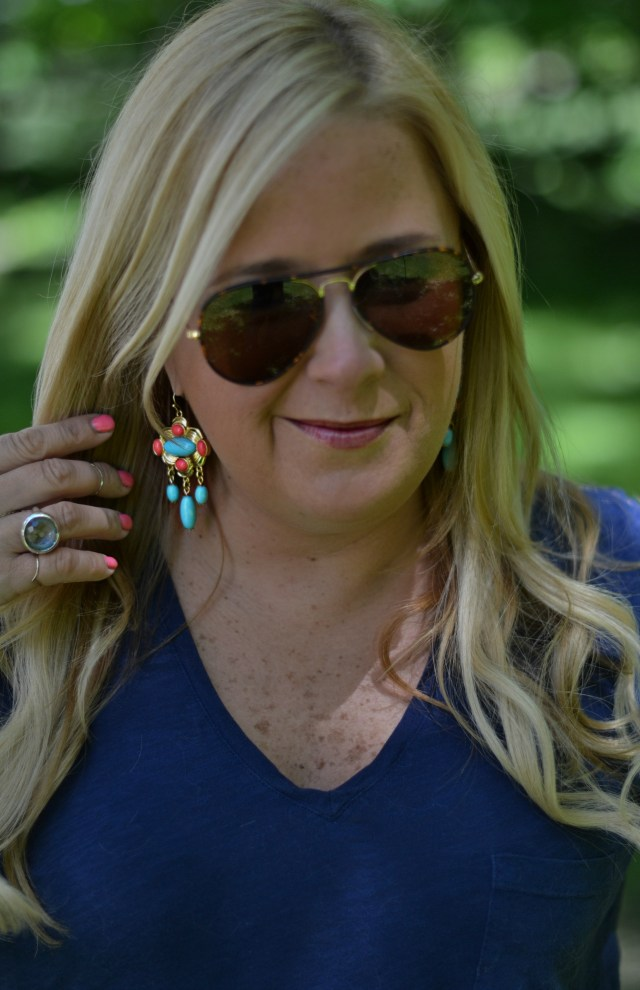 On Wednesday I Wore... Lilly Pulitzer!  These earrings are a necessity!