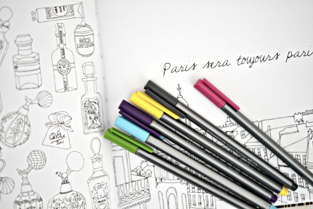 Color your way to calm with a chic fashion coloring book! | GlamKaren.com