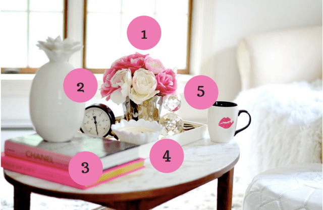 How to style a coffee table in 5 easy steps! | GlamKaren.com