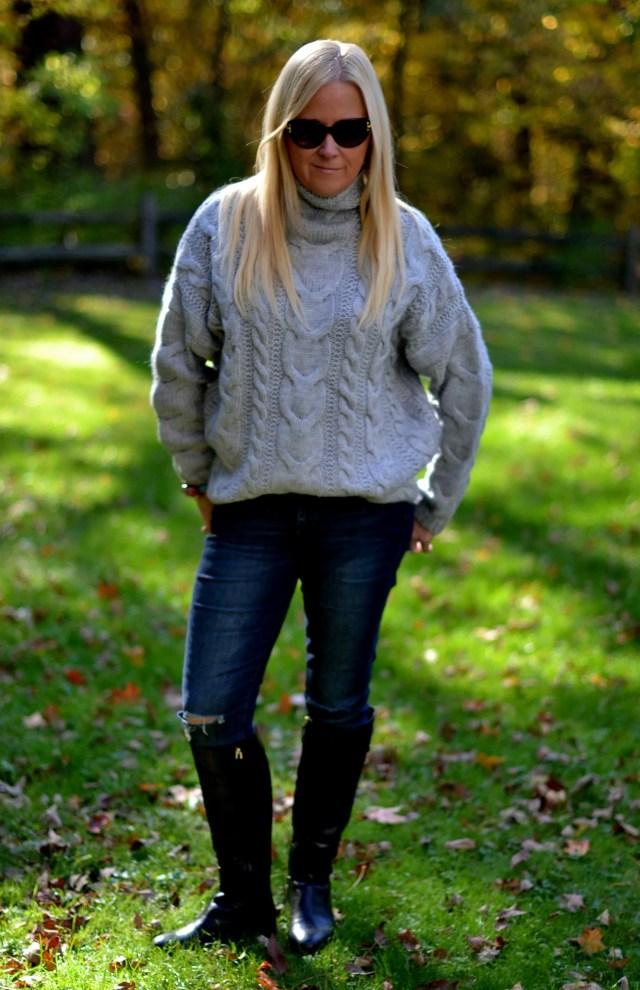 Perfect Grey Sweater for Fall & Winter | GlamKaren.com