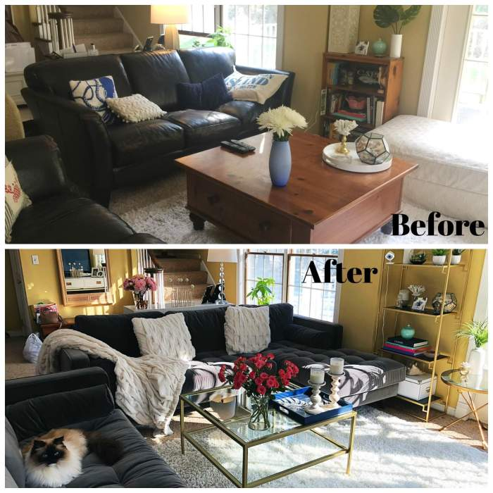 How To Do A Living Room Makeover (Before & After Pics