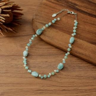 Halskette mit echtem Amazonit