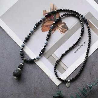 Halskette echte Lavasteine