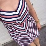 Orange and Blue Striped Dress
