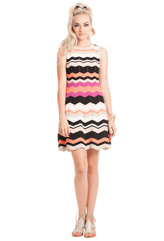 TRINA TURK Newton Zig Zag Stripe Dress