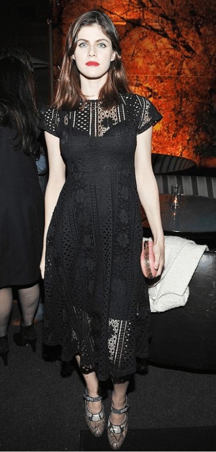 Alexandra Daddario wearing Forever 21 dress