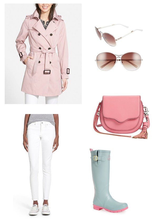 Spring Outfit Idea - Pastel Pink and Teal