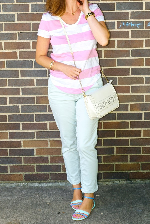 Pastel Pink and Pastel Blue Outfit Idea