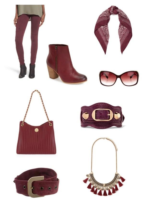 Burgundy Fashion Board