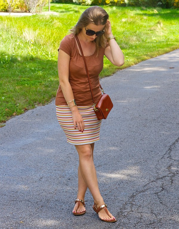 Fall Colors Outfit Idea - Brown and Mustard
