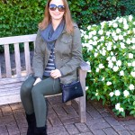 Utility Jacket and Green Leggings – Fall Outfit Idea