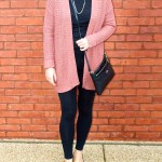 Mauve Cardigan and Black Everything Else