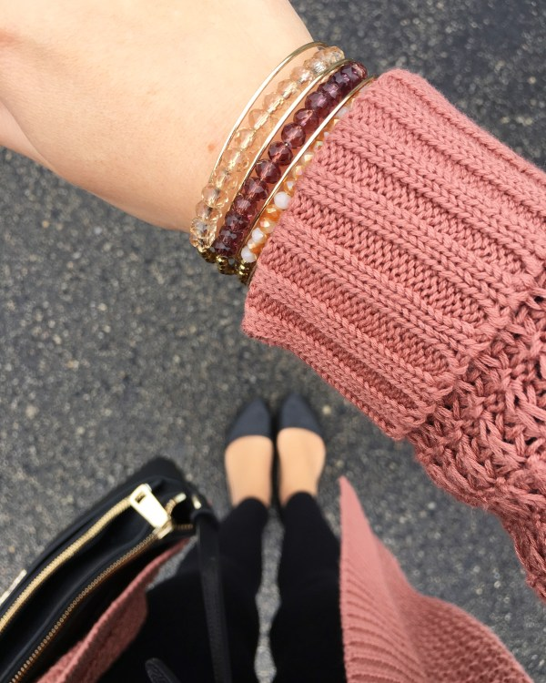 Burgundy and Gold Bracelet