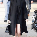 Kendall Jenner Wearing Solange Mini Dress and The Classic Coat
