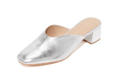 Loeffler Randall Lulu Mules in Silver