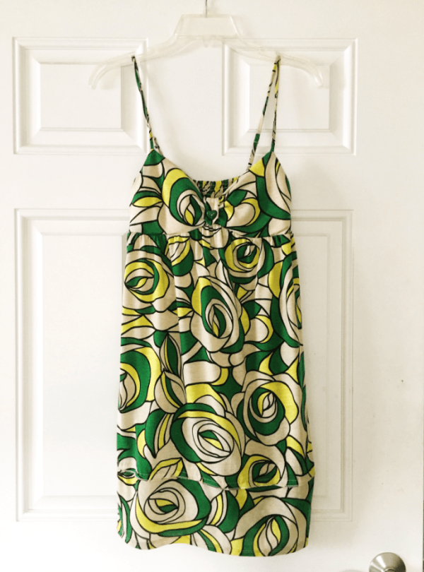 Green and Yellow Summer Dress for sale