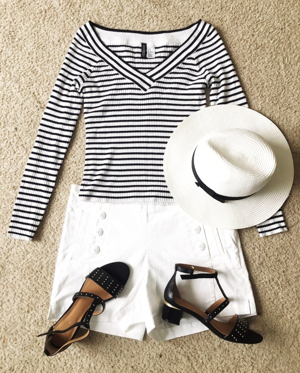 black and white summer outfit idea