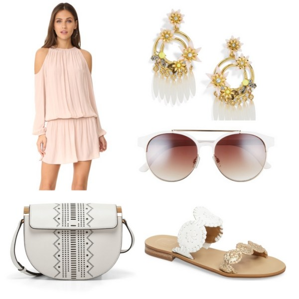 Spring/Summer Outfit Idea - Blush and White