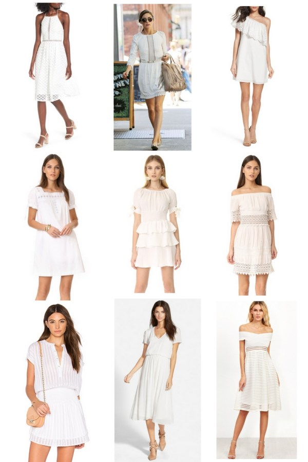 White Summer Dress Fashion Board