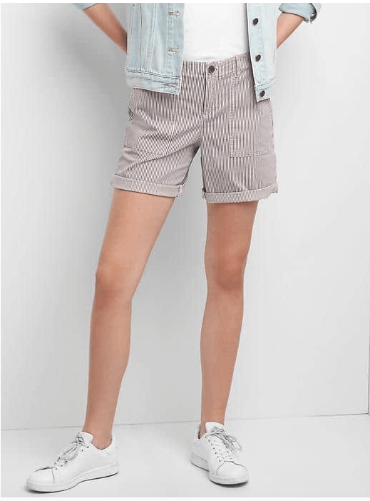Stripe Girlfriend Shorts