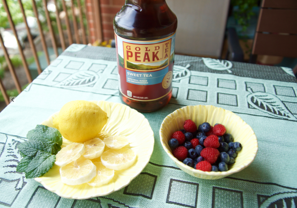 Fruit Infused Iced Tea - Summer Dinner Idea
