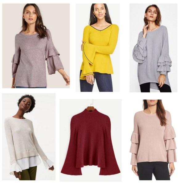 2017 Fall Trends - Ruffled Sweaters
