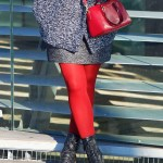 Tweed Coat – Red And Black Fall/Winter Outfit Idea