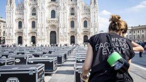 Protesta dello spettacolo Milano