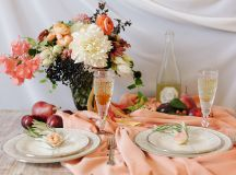 Romantic Peach and Plum Fall Wedding Inspiration | Glamour ...