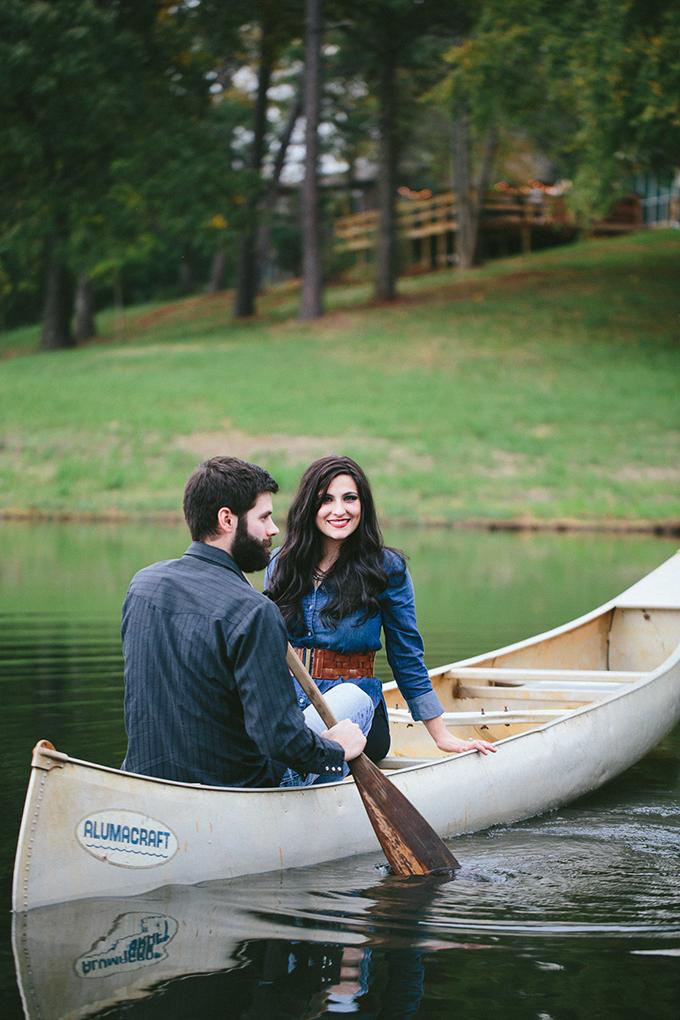 Rustic Canoe Engagement Session Glamour Amp Grace