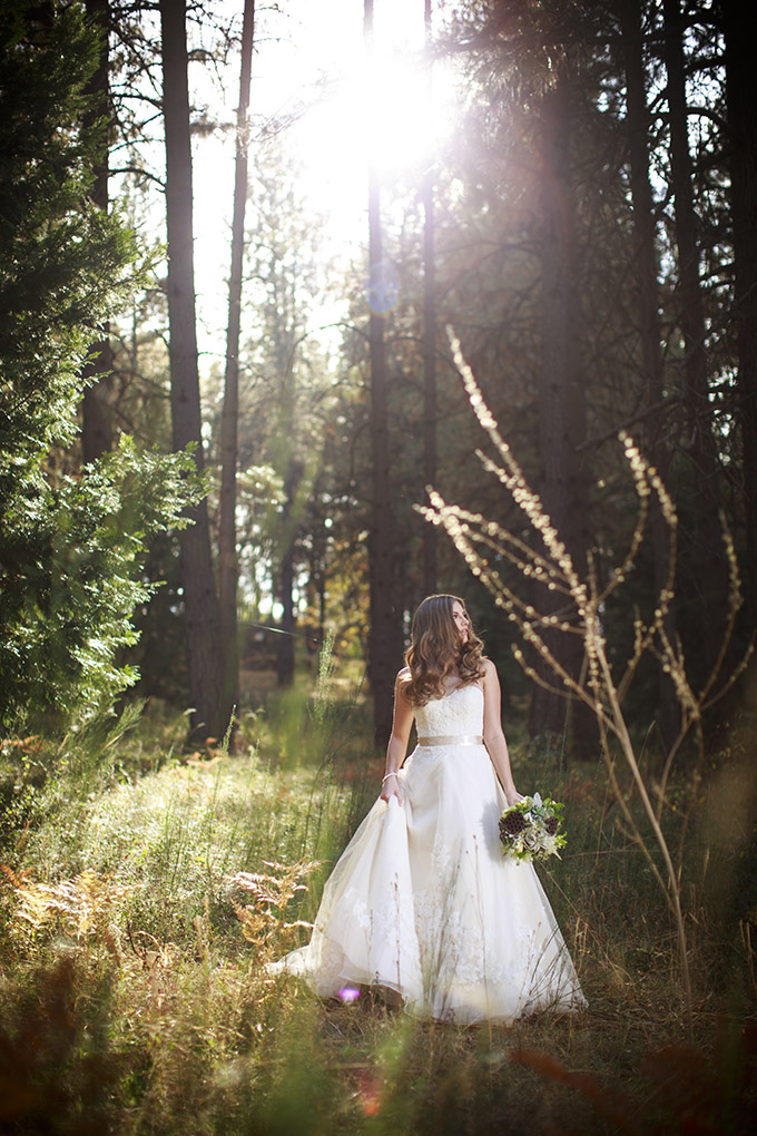 Romantic Forest Wedding Inspiration  Glamour  Grace
