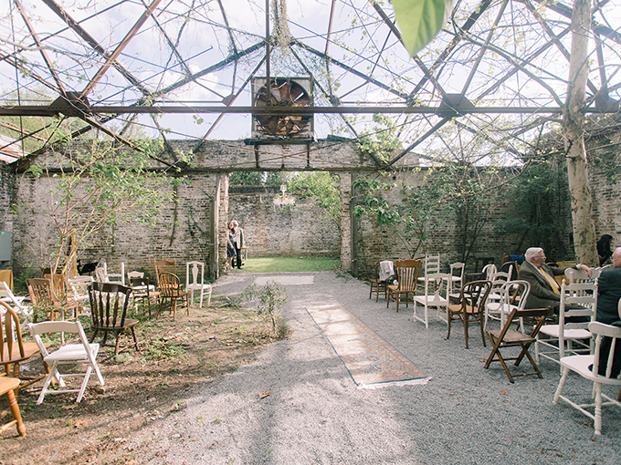 vintage greenhouse wedding | Starling and Sage | Glamour & Grace