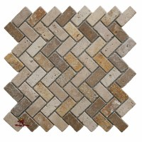 Mix Herringbone | Travertine Los Angeles