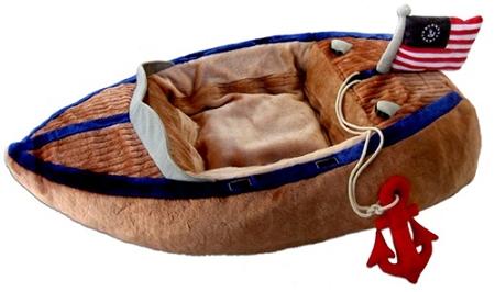 Ahoy Boat Dog Bed by Haute Diggity Dog  Novelty Dog Beds at GlamourMuttcom