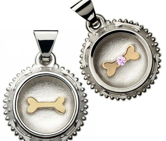 Bowl Me Over Stainless Steel Custom Dog Tag Brass Bone Designer Dog Tags At Glamourmutt