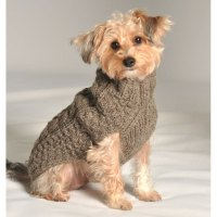 Grey Cable Knit Dog Sweater by Chilly Dog at GlamourMutt