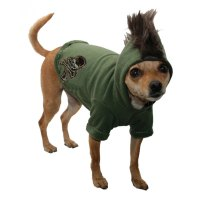 Camo Skull Mohawk Dog Hoodie | Cute Dog Clothes at ...