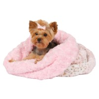 Pink Lynx Leopard Cuddle Cup Bed by Susan Lanci
